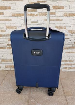 Ультра легкий тканевый чемодан под ручную кладь на 4-х кол. airtex 841 s , (оригинал)2 фото