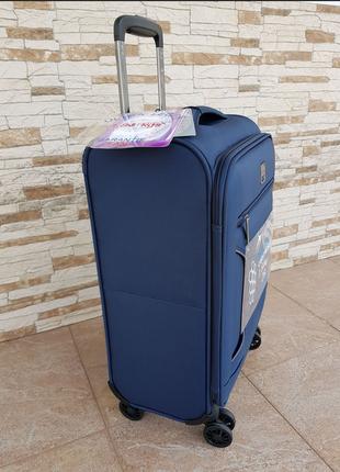 Ультра легкий тканевый чемодан под ручную кладь на 4-х кол. airtex 841 s , (оригинал)10 фото