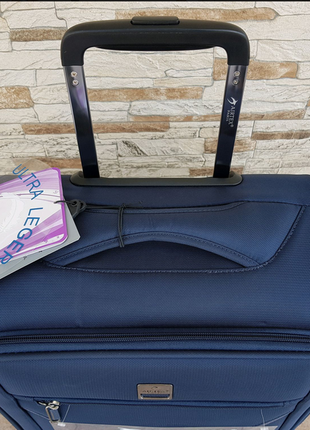 Ультра легкий тканевый чемодан под ручную кладь на 4-х кол. airtex 841 s , (оригинал)3 фото