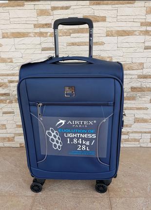 Ультра легкий тканевый чемодан под ручную кладь на 4-х кол. airtex 841 s , (оригинал)9 фото