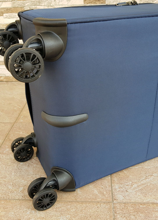 Ультра легкий тканевый чемодан под ручную кладь на 4-х кол. airtex 841 s , (оригинал)4 фото