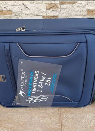 Ультра легкий тканевый чемодан под ручную кладь на 4-х кол. airtex 841 s , (оригинал)8 фото