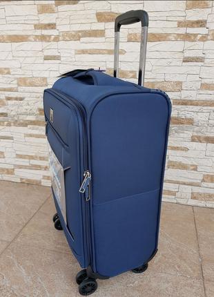 Ультра легкий тканевый чемодан под ручную кладь на 4-х кол. airtex 841 s , (оригинал)7 фото