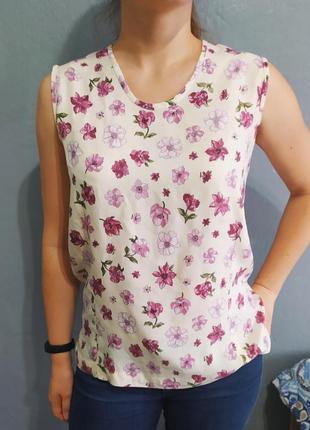 Летняя цветочная блуза
