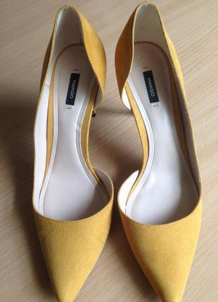 Туфли на каблуке шпилька лодочки mango, разм 40 (41)