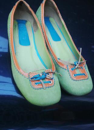 Замшевые(кожаные) туфли
