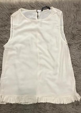 Блузка белая молочная молочна блуза