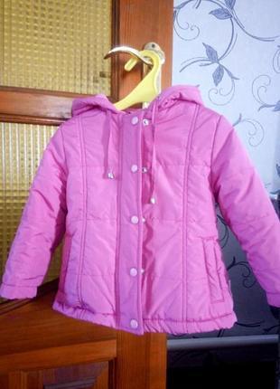 Куртка bembi польща для дівчинки на флісі весна-осінь