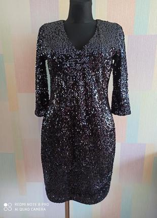 Идеальное нарядное яркое платье футляр в пакетиках