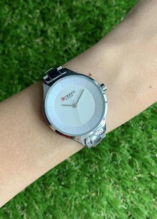Женские наручные часы металлические curren blanche серебристые цвета серебро