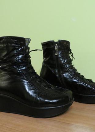 Кожаные ботиночки на цигейке, 36 р-р