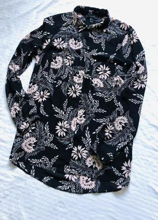 Блуза с принтом рубашка удлиненная от atmosphere 😍
