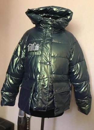 🔥скидка🔥хит сезона! шикарная куртка демисезонная пуховик хамелеон
