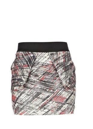 Жаккардовая мини юбка от river island
