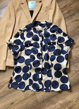 Шёлковая блузка дизайнерская блузка рубашка бренд премиум