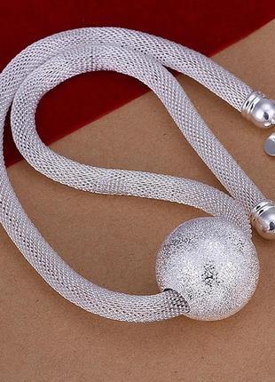 Роскошное колье с шариком, цепочка, ожерелье серебристое в стиле cos