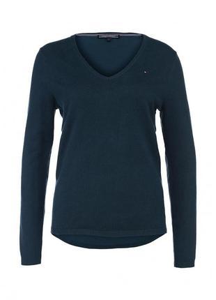 Стильный фирменный пуловер свитер реглан от tommy hilfiger