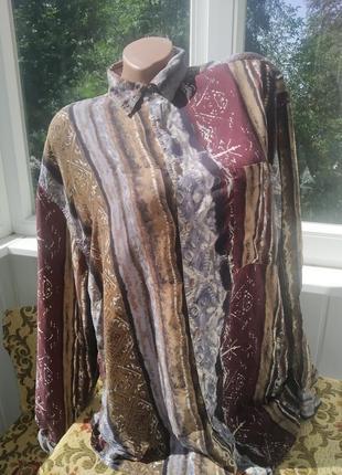 Винтажная шёлковая рубашка