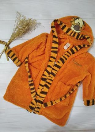 🎁махровый милый халатик с тигрой disney для мальчика или девочки :)
