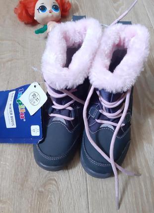 Зимние термосапожки ботинки lupilu с мехом