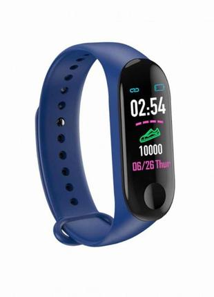 Фитнес-браслет smart band m3 blue