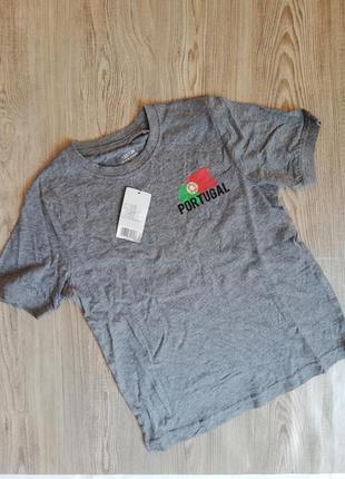 Хлопковая футболка 122-128