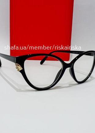 Имиджевые очки кошечки, оправа лисички, прозрачные, линза нулевая.