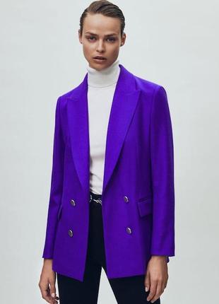 Шерстяной пиджак с пуговицами, бренд massimo dutti! оригинал, германия/португалия!