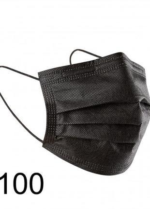 Медицинская маска трехслойная паяная с фиксатором