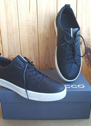 Шикарные полностью кожаные кеды кроссовки полуботинки ecco soft8 мокасины оригинал