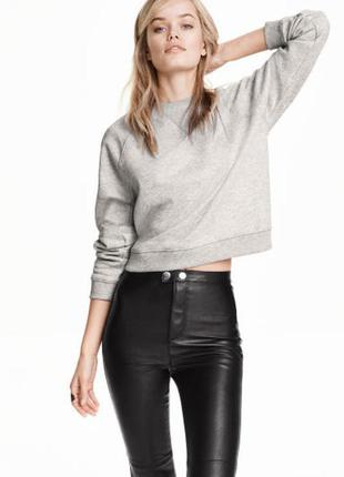 Серый свитшот, реглан, пуловер h&m размер s-m