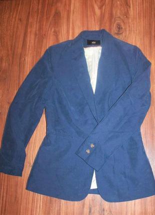 🍁синий пиджак от h&m, размер m, l