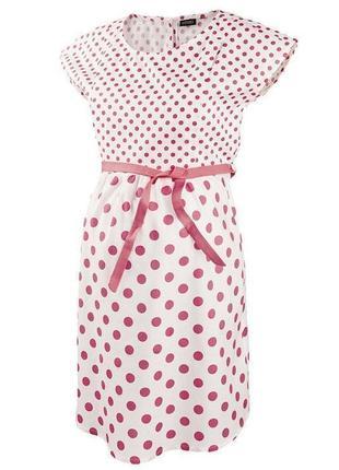 Летнее платье в горошек для беременных/кормящих