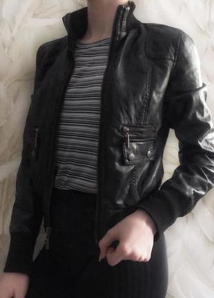 Шкіряна куртка косуха кожаная куртка кожанка