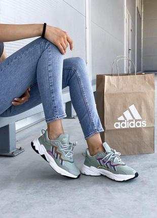 Шикарные женские кожаные кроссовки adidas ozweego 😍