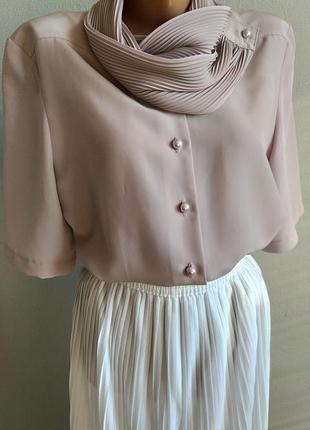 Блуза, деловой стиль, пудровый цвет