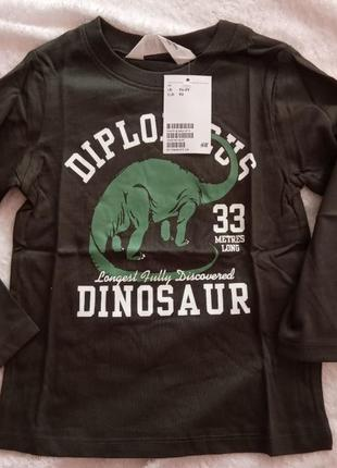 H&m 92 реглан динозавр