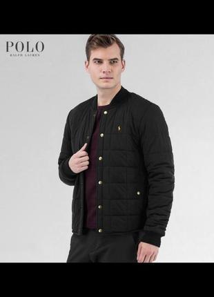 Демисезонная классическая куртка polo ralph lauren черная