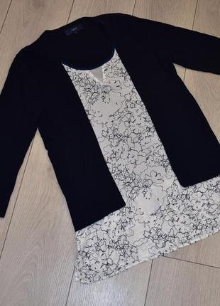 Темно синяя кофта блуза next оригинал s размер 10