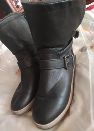 Сапожки демми теплые ботинки -36 р