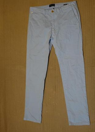 Классные светло-голубые брюки scotch & soda amsterdams couture stuart  32/32 р.