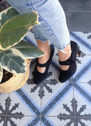 Винтажные туфельки велюр 38 (25)