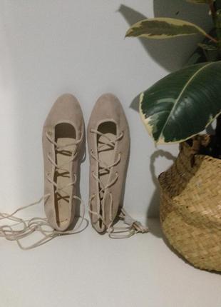Балетки на шнуровке 38(25)