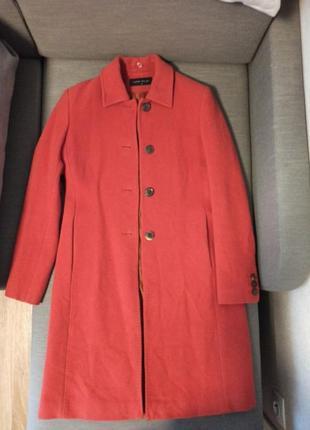 Женское пальто морковное karen millen 74% шерсть