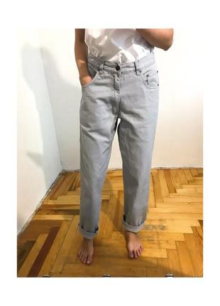 Прямые джинсы  mom мом слоучи  свободные плотные