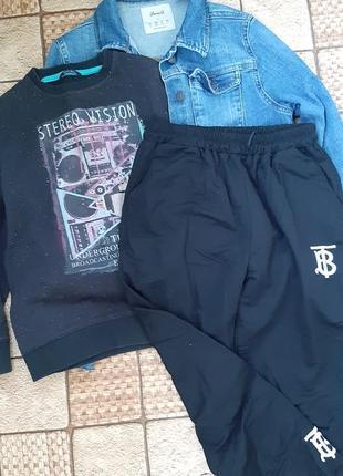Брендовая одежда для девочки, джинсовка, штаны, свитшот