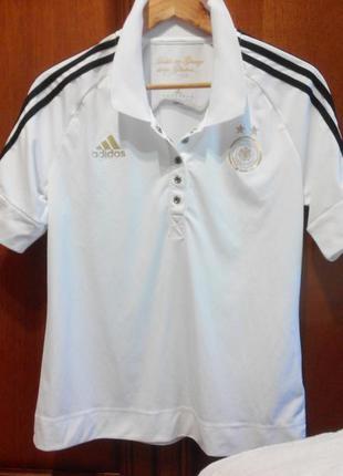 Adidas german national soccer team, оригинал нидерланды, поло/ тенниска/ футболка, р. m-l.