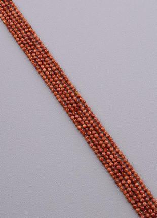Нитка золотой песок 38 см. 3 мм. (без замка) 0817570.