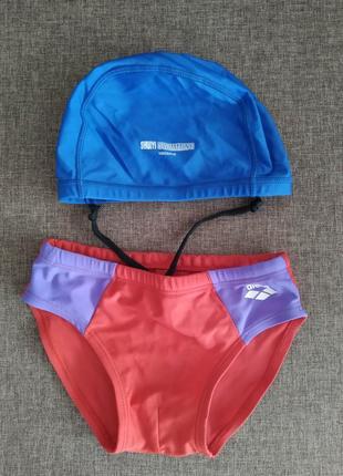 Шапочка и плавки для бассейна в бассейн