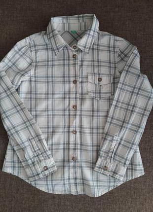Рубашка в клеточку  george джордж на мальчика